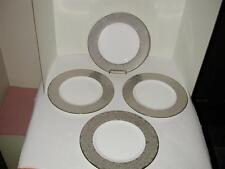 L by Lenox Silver Bouquet Accent Plates Set of (4) 1st Quality New w/Tags