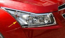 Chromed 2PCS Front Head Light Cover Trim For Chevrolet Chevy Cruze 2009-14 Sedan