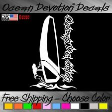 Windsurf Ocean Devotion Vinyl Decal / Sticker V2- Surf Sail Car Window Salt Life