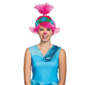 DreamWorks Poppy Trolls 2 World Tour Adult Halloween Costume Wig
