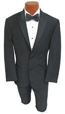 Men's Black Ralph Lauren Tuxedo with Flat Front Pants Grosgrain Satin Lapels