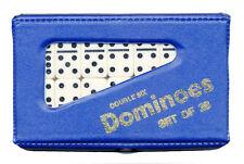 Lot de 28 double six jeu de dominos en pvc carry case traditionnelle de voyage jeu jouet