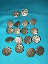 AMERICAN INDIAN HEAD NICKEL  2 BLAZER JACKET METAL SILVER 16 Copper Buttons