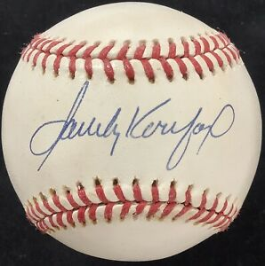 Sandy Koufax Signed Baseball Bill White Rawlings Dodgers Autograph WSC HOF JSA
