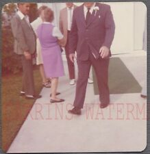 Unusual Vintage Photo Out of Frame Man Walking in Sunday Best 742280