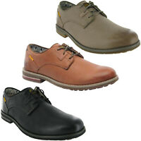 CAT Caterpillar Collins Shoes Mens Smart Leather Casual Lace Up Oxford