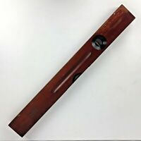 """Vintage Stanley Level 24"""" Tool No. 0 Cherry Wood Brass USA Man Gift"""