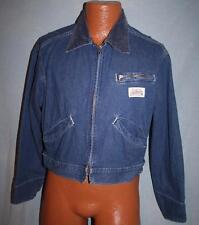 Vintage CARTERS Watch The Wear Denim Blue Jean JACKET M Zippered VTG Made In USA