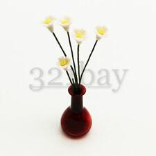 Miniatur Deko Blume Primel weiß Blumenstrauß Zubehör für Puppenhaus Vasen 1zu12