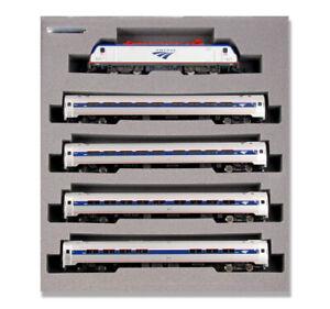 Kato 106-8001-DCC Amtrak ACS-64 Amfleet I Phase VI N Gauge Electric Train Set