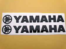 Tank Fairing Badge Emblem Logo Decal Sticker Pad For Yamaha 20cm 3D Black Pair