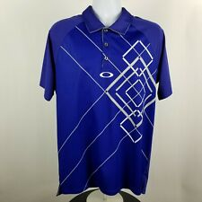 Oakley Mens Blue Adult S/S Polo Shirt Sz Large L