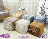 New Home Decore Luxury Crushed Velvet Cube Bean Bag & Covers With Filled Cushion