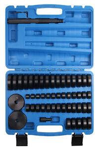 50 TLG. Radlager Montagescheiben Druckstück Press Werkzeug Treibsatz 18-65 mm