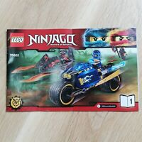 LEGO - INSTRUCTIONS BOOKLET ONLY Desert Lightning - Ninjago - 70622