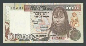 COLOMBIA 10000 PESOS  1992  COMMEMORATIVE P-437  UNC