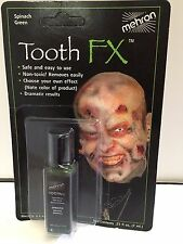 Tooth FX spinach green tooth effect fancy dress stage makeup zombie monster