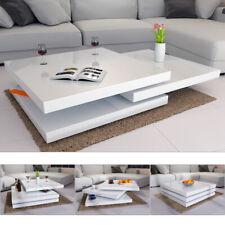 Couchtisch Wohnzimmertisch Hochglanz Beistelltisch Couch Sofa Tisch Weiß 76x76cm