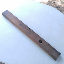 """Antique Stanley Rule & Level Brass Wood 30"""" Level  - Carpenter Woodworking Tool"""