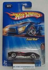 HOT WHEELS THOMASSIMA III FINAL RUN #071 BLACK DIECAST CAR NRFP hwd
