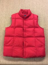 Mens LANDS END XL Red Feather Down Gilet Vest Body warmer Jacket Superb