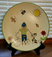 """Decorative Plate Boy and Dog Designed for Toyo Trading Company 8 1/2"""""""