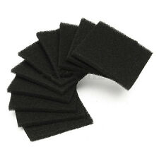 10x Universal Black Activated Carbon Foam Sponge Square Air Filter Pad HOT