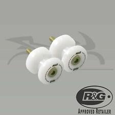 R&G M8 WHITE COTTON REELS BOBBINS Suzuki GSR750 (2016)