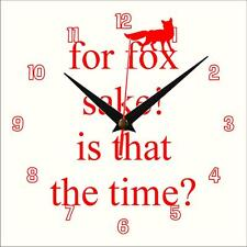 For Fox Sake Wall clock Handmade novelty gift present