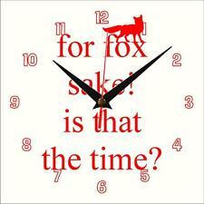 For Fox Sake Wall clock Handmade novelty gift present