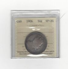 **1906**, ICCS Graded Canadian 50 Cent, **VF-20**