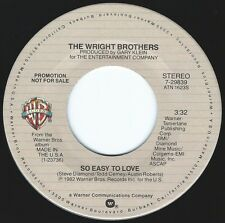 WRIGHT BROTHERS So Easy To Love ((**NEW 45 DJ**)) from 1982