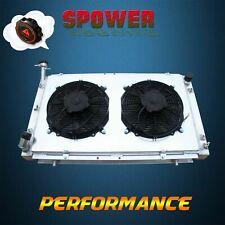 Aluminum Radiator + Fan For Nissan Patrol GQ Y60 TD42 RD28T Diesel 6Cyl AT 87-97