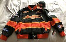 MUSTANG 40th Anniversary Racing Jacket Black Red Orng Coat 2XL +Matching Cap NWT
