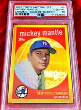2010 TOPPS FACTORY SET #2 MICKEY MANTLE CHROME GOLD REFRACTOR PSA 10!