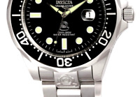 Invicta Men's 3044 Stainless Steel Grand Diver Automatic Watch, Silver/Black