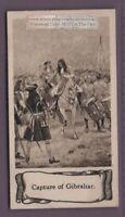 1704 Spain's Marquis de Salines Surrenders Gibraltar To British 1930s Ad  Card