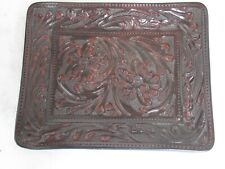 Hand Tooled Leather Valet Tray