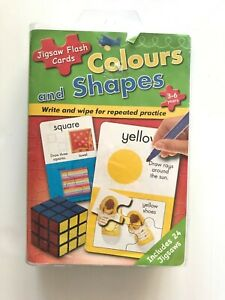 Colours and Shapes Jigsaw Flash Cards Educational Toy