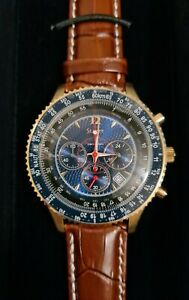 STAUER 35777 FLYBOY Blue dial Chronograph Men's Watch