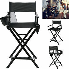 New Makeup Director Artist Chair Black Foldable Beech Wood Zinc Plated Light USA