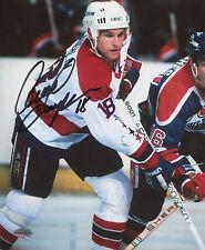 Craig Laughlin Autographed 8x10 Washington Capitals (White Jersey) Caps
