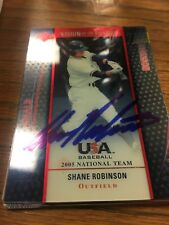 2005 USA Team Shane Robinson Autograph Signed Auto Card