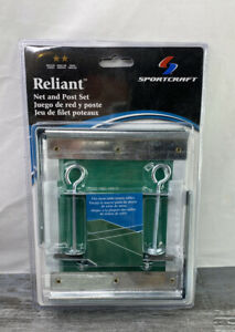 Reliant Regulation Ping Pong Table Net and Post Set with Heavy Duty Sleeves