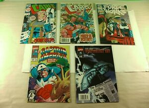 Lot of 5 Marvel Comics Cable Captain America Force Works & Independence Day