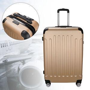 """Reisetasche Trolley XL Kofferset Gepäck Champagner Koffer 4 Rollen 28"""" Boardcase"""