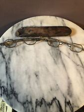 Early 1900's Reading Glasses !Very Rare! 2 Piece Lot with case