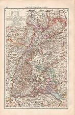 """1900 """"TIMES""""  LARGE ANTIQUE MAP -GRAND-DUCHY OF BADEN"""