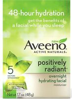 AVEENO Active Naturals Radiant Overnight Hydrating Facial Moisturizer 1.7 oz