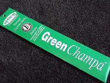 GREEN NAG CHAMPA - BALANCE Natural Slow Burning Incense Sticks 10g Pkt NITIRAJ